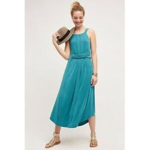 Anthropologie Maeve Azores Aqua Dress